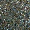 Square Beads 3.4x3.4mm Transparent rainbow Multi